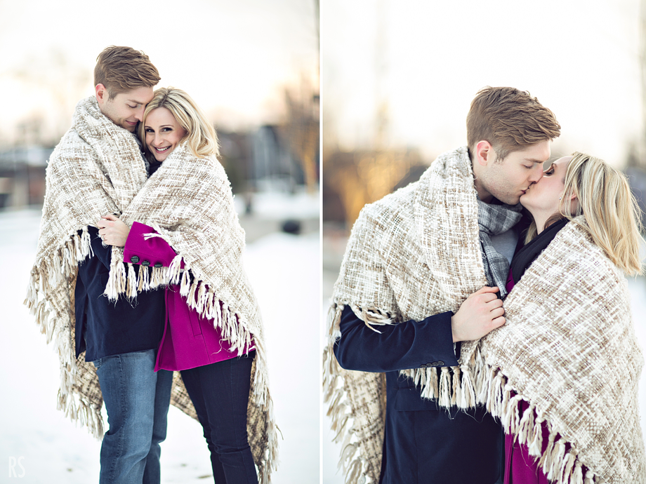 birmingham michigan engagement, detroit wedding photographer, rachel smaller photography, michigan engagement photos, coffee shop engagement pictures, winter engagement photos, michigan wedding photographer