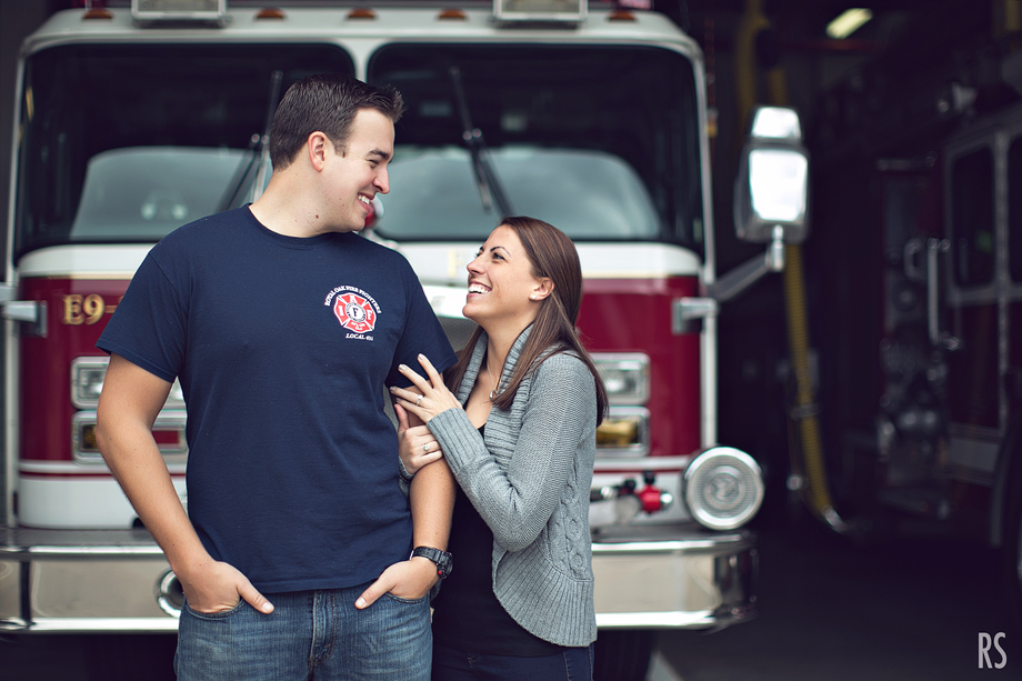 Fire Station Engagement, detroit michigan wedding photographer, michigan engagement photos, rachel smaller photography, royal oak michigan wedding photographer, stoney creek engagement session