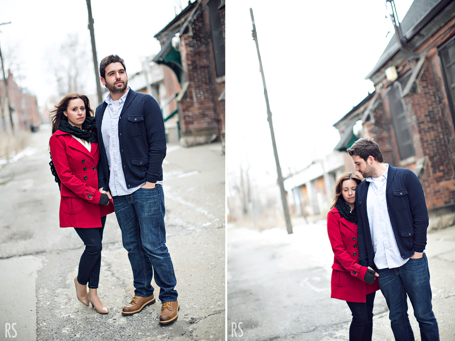 detroit wedding photographer, detroit engagement photos, great lakes coffee co, rachel smaller photography