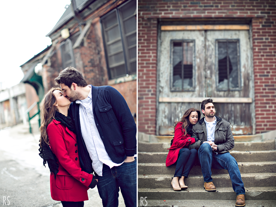 detroit wedding photographer, detroit engagement photos, great lakes coffee co, michigan photographer