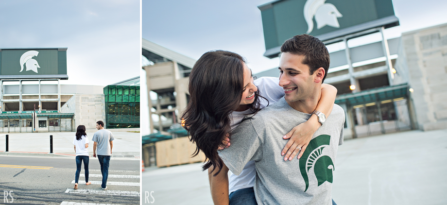 michigan state engagement, michigan wedding photographer, rachel smaller photography