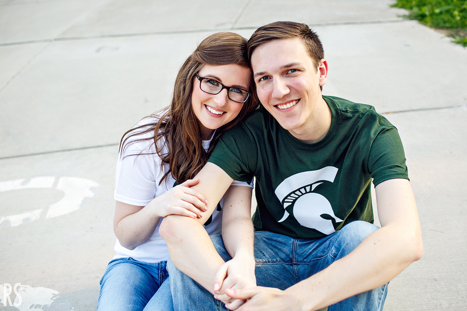 Michigan state engagement photos, msu gardens, msu engagement pictures, detroit michigan wedding photographer,spartan stadium,rachel smaller photography